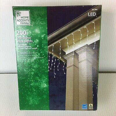 """Home Accents Holiday 200 LED Dome Icicle Lights Christmas 17""""6"""" Lighted Length"""