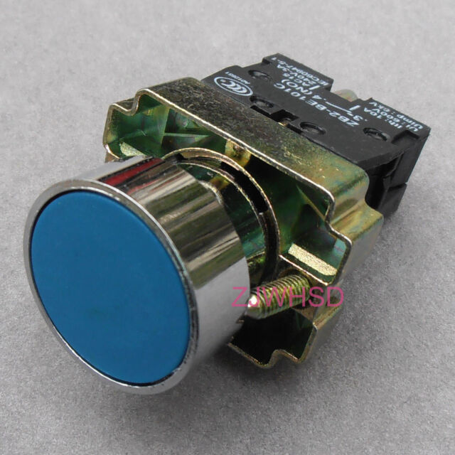 Blue sign Momentary Push Button Switch Normally Open Contact Block