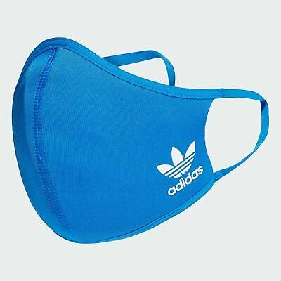 Adidas Face Cover Mundmaske Nasenmaske Gesichtsmaske Gr. M/L Blau waschbar 60°C