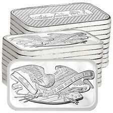 SPECIAL!! Retro SilverTowne Eagle & Shield 1oz .999 Fine Silver Bar LOT of 20