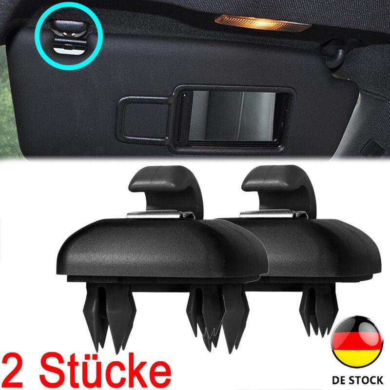 2x Sonnenblende Haken Halter soul für Audi A1 A3 A4 A5 Q3 Q5 Schwarz 8W0857562A