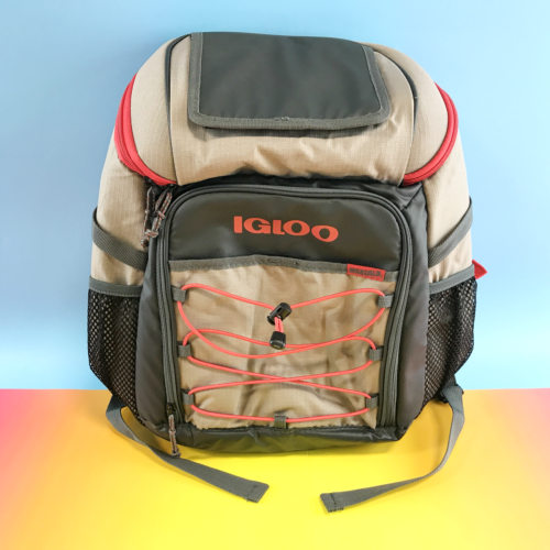Igloo Ringleader Quick Hatch Backpack Cooler, Tan/Red New #6