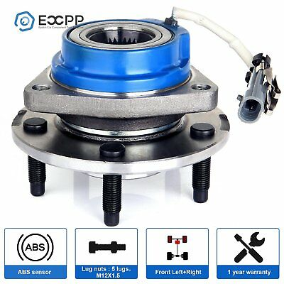 Brand New Front Wheel Hub Bearing Assembly For Chevy Buick Cadillac 5 Lug W/ABS