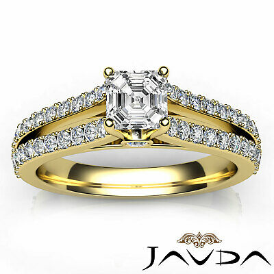 Asscher Cut Prong Set Diamond Womens Engagement Ring GIA G VS2 Platinum 1.15Ct 7