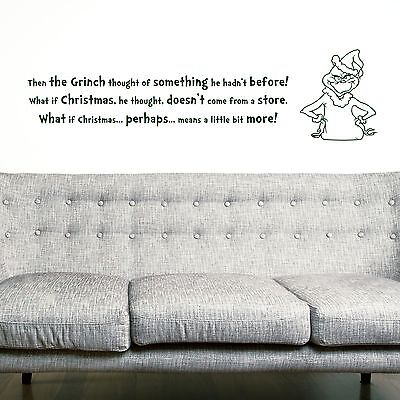 THE GRINCH, LARGE WALL STICKER, Silhouette, Decal, WallArt, SS1434