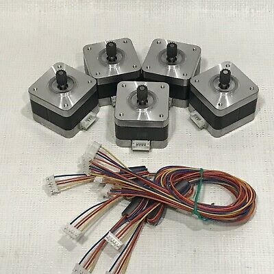 5 Pcs Nema 17 Stepper Motor Kit 12v Cnc 3d Printer Extruder Surplus Deal Lot
