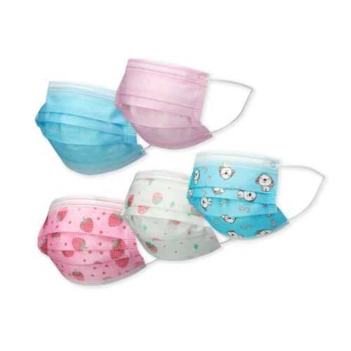 [50 Pack] Cartoon Kids Face Mask Toddler Child Masks Disposal 3 Lyers Usa Seller