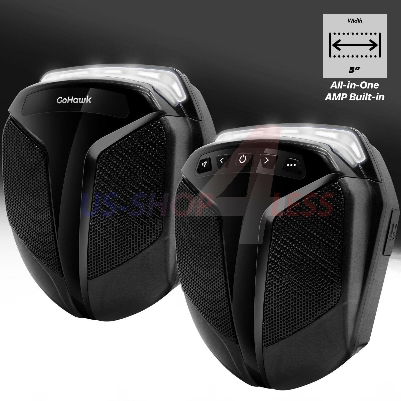 Waterproof ATV UTV RZR Polaris Bluetooth Speakers Stereo Aud