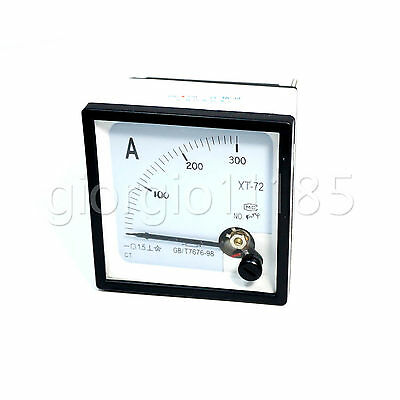 Us Stock Dc 0 300a Analog Amp Current Needle Panel Meter Ammeter Xt-72 Shunt