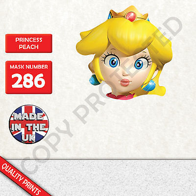 princess peach CARD FACE MASK MASKS FOR PARTY FUN HALLOWEEN FANCY DRESS UP