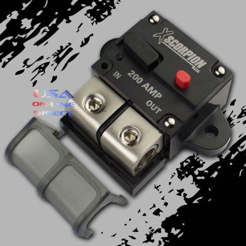 250A Amp Manual Reset Inline Circuit Breaker Platinum Terminal Block Marine Auto