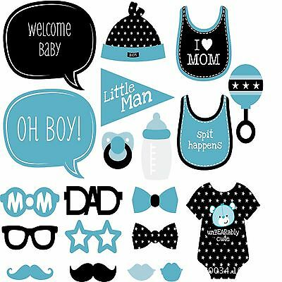 It's a boy baby shower 1st birthday Party Selfie Photo Booth Prop Game Sign