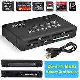 Black Mini 26-in-1 USB 2.0 Universal High Speed Memory Card Reader SD MS XD SDHC
