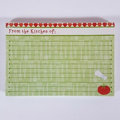 "Red Green Tomato Utensil Kitchen Lined Recipe Card Set 30 Red Green 4"" x 6"" Nos"