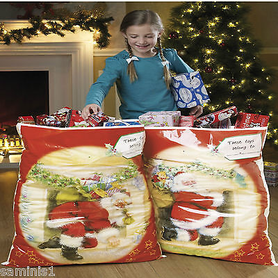 Name Tags For Halloween (NEW~SET OF (2) XTRA LARGE CHRISTMAS SACKS~ WITH NAME TAG FOR YOU TO FILL IN)