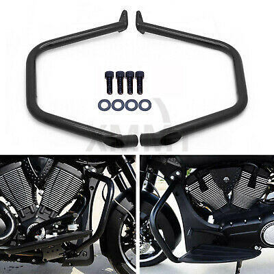 2x Black Engine Guard Crash Bar Frame Protector For Victory Cross Country Roads