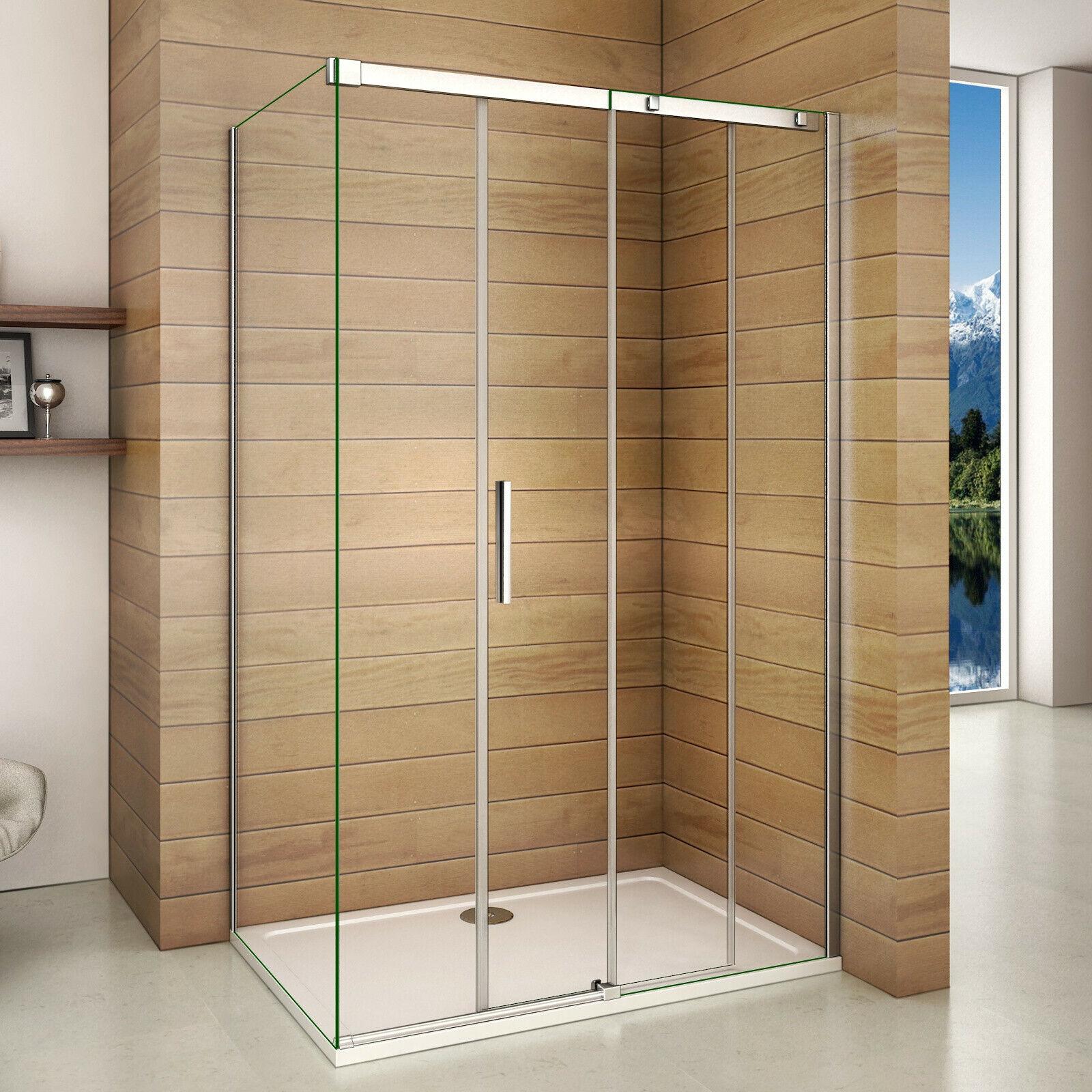 8mm NANO ESG Echtglas Schiebetür Duschkabine Duschabtrennung Dusche Duschwand