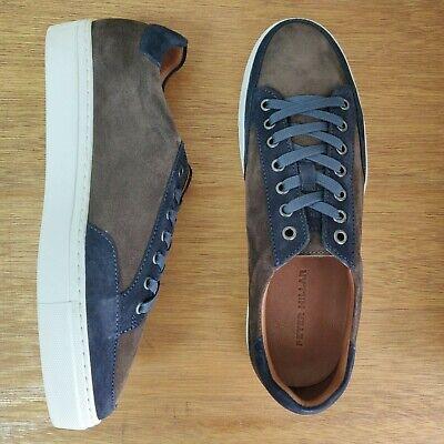 Peter Millar Skyline Suede Nubuck Sneakers Two Tone Brown Navy Brown Nubuck Suede Shoes