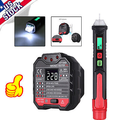 Electrical Test Kit With Non-contact Ac Voltage Tester Pen Socket Tester Set