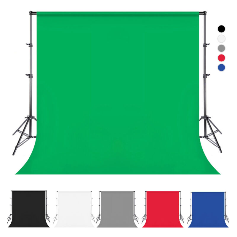 Photography Backdrop Screen Studio Photo Muslin PP Background 5x10ft/6.6x10ft