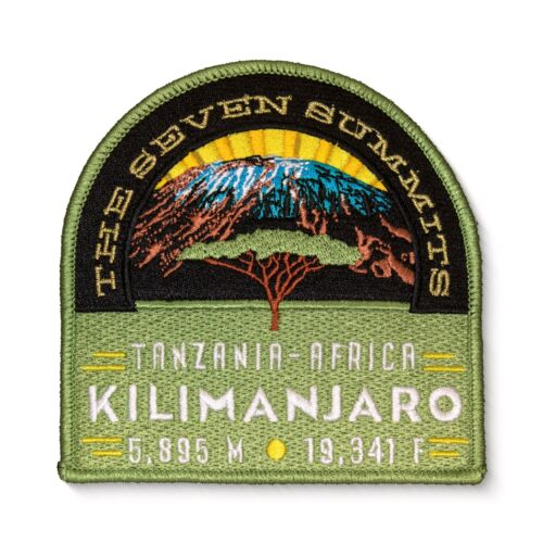 Kilimanjaro Seven Summits Embroidered Iron On Patch