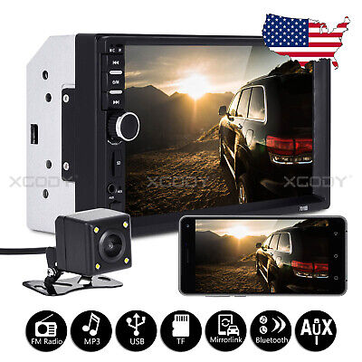 """7"""" 2 DIN Car MP5 Player Stereo Bluetooth Radio Touch Screen Mirror Link + Camera"""