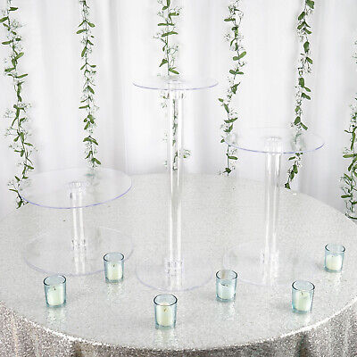 3 Tiers Clear Acrylic Wedding Cupcake CAKE Stand Birthday Party Events Display