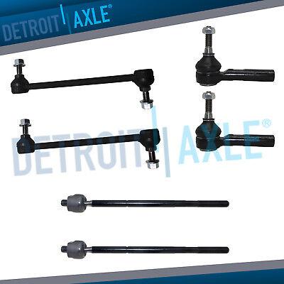 Front Sway Bar Link & Inner Outer Tie Rod Kit Chevy Cobalt HHR Pontiac G5