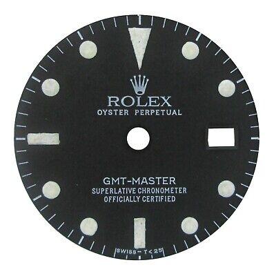 Matte Black Dial Fits Rolex GMT Master 1675 Watch Dial Repair Part No Quick Set