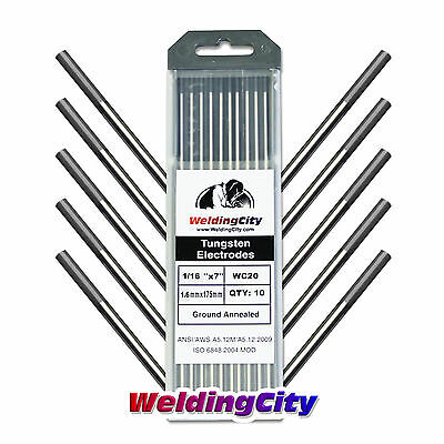 10-pk Tig Welding Tungsten Electrode 2 Ceriated Gray 116x7 Us Seller Fast