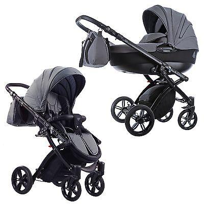 Knorr Baby Kombikinderwagen Alive Elements Tinny schwarz-grau NEU