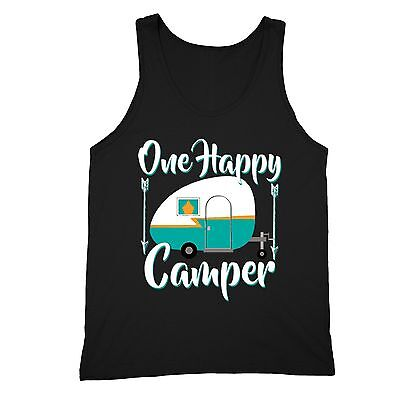 Family Vacation Camper (One Happy Camper Tanktop Camping Family Vacation Summer Camp Hiking Yoga)