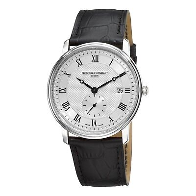 Frederique Constant Men's FC-245M5S6 Quartz Black Leather Strap 39mm Watch