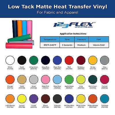 """Heat Transfer Vinyl For Tshirts - 20"""" x 5 yard Rolls"""