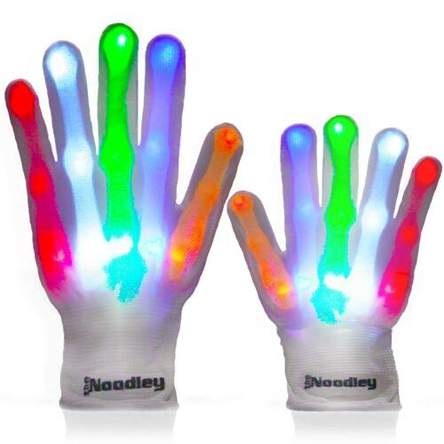 The Noodley Skeleton LED Light-Up Gloves Toys for Boys & Girls Cool Gifts