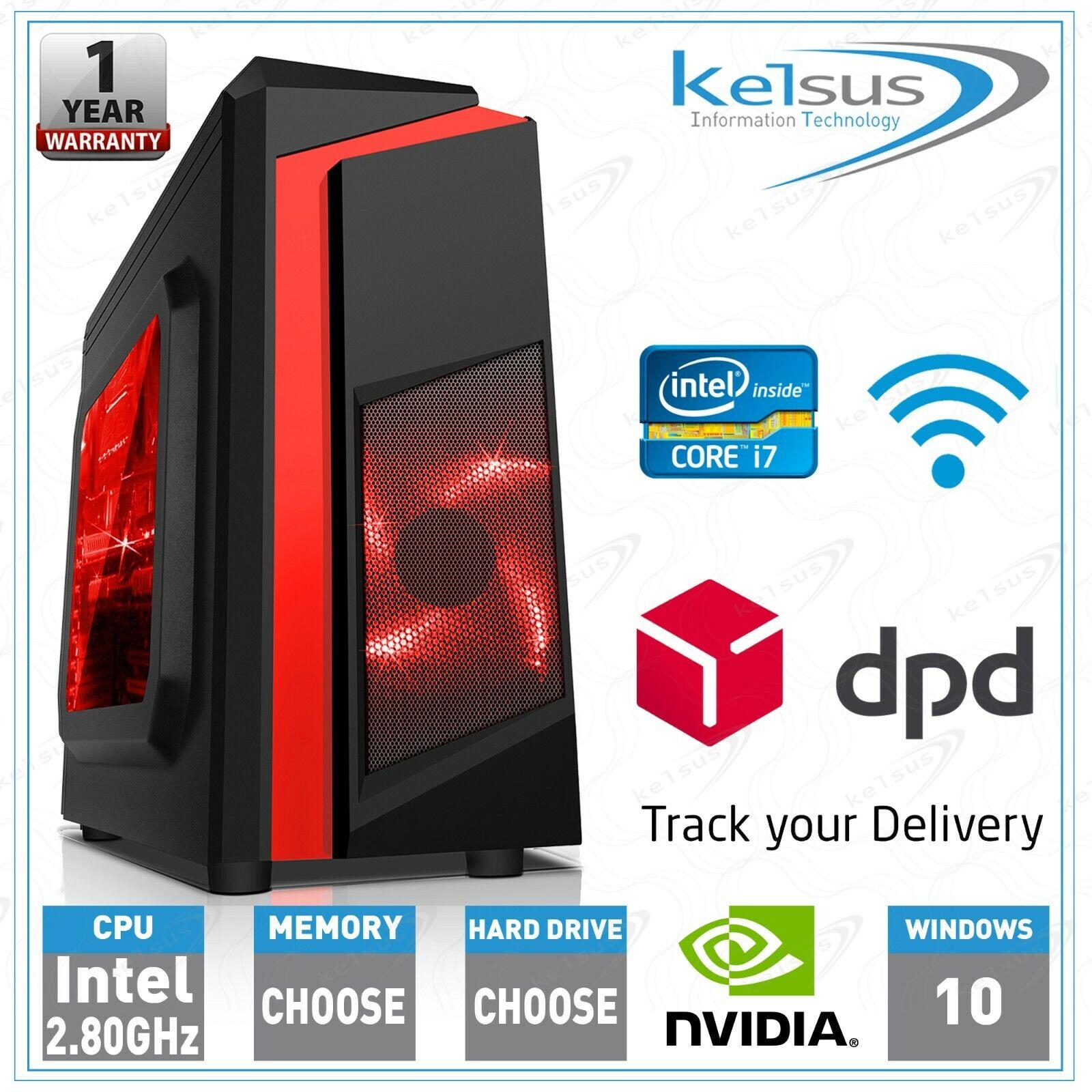 Computer Games - Fast Gaming PC Computer 8GB 16GB RAM HDD SSD Nvidia GT 710 GTX 1650 Windows 10