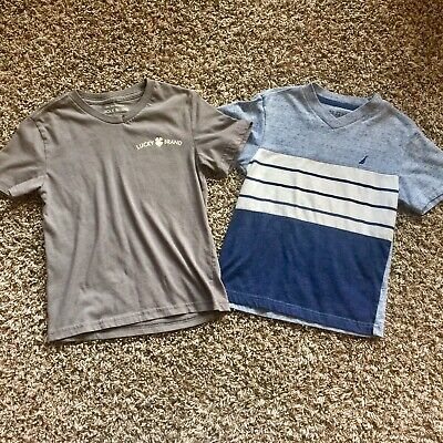 Lucky And Nautica Boys Lot Of Two T-shirts 5-6