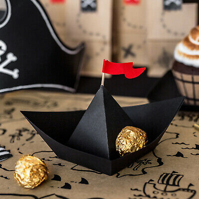 PIRATE PARTY DECORATIONS | 6 x Plates | Cheap Pirate Birthday Party Tableware  - Cheap Birthday Decorations