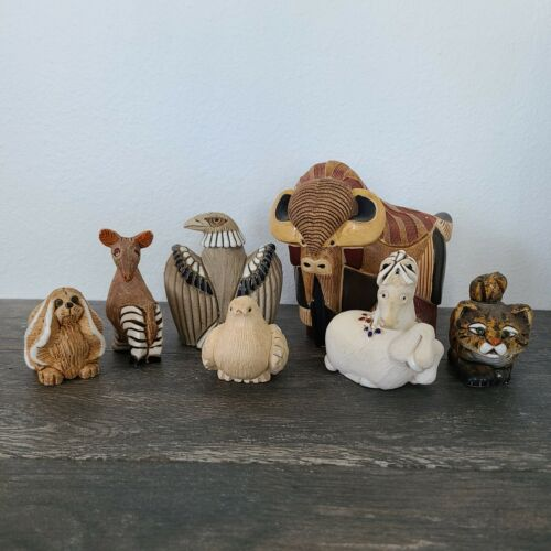 Artesania Rinconada Ceramic Animal Lot of 7 - One Large Wildlife Edition