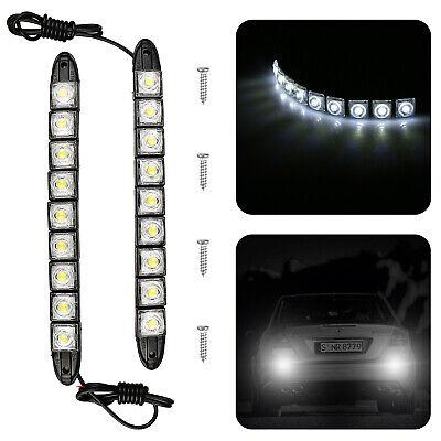 2x White DC 12V 9-LED Daytime Running Light DRL Car Fog Day Driving Lamp Lights