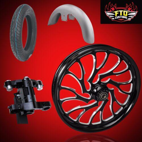 "Harley 26 Inch Big Wheel Builder Kit, Wheel, Tire, Neck, & Fender, ""nightmare"""