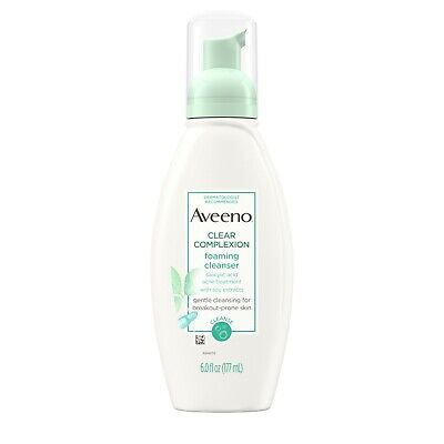 AVEENO Active Naturals Clear Complexion Foaming Cleanser 6 oz Aveeno Oil Free Cleanser