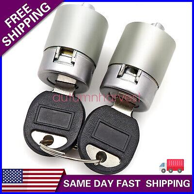 For C1500 K1500 Tahoe Yukon Front Door Lock Cylinder Kit Pair Set with Keys USA