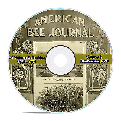 American Bee Journal Vintage Honey Bee Care Newspaper 1861-1921 61 Years V59