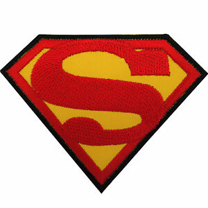 Superman Patch Iron / Sew On Embroidered Badge Logo Emblem Symbol Film Movie Toy