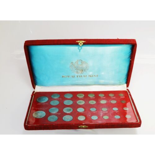 1963 Thailand Royal Thai Mint Commemorative Coin Set of 30 Coins With Orig Box