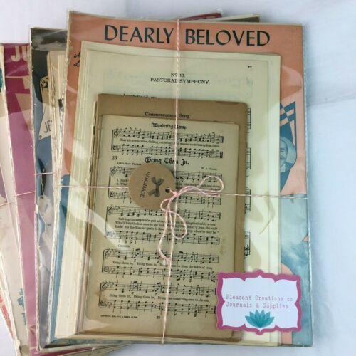 Music Sheet Lot 30 Pages Antique Vintage