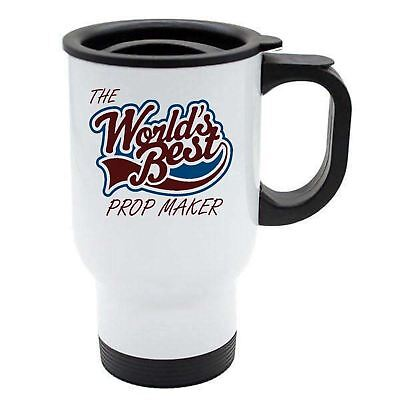 The Worlds Best Prop Maker Thermal Eco Travel Mug - White Stainless (Best Stainless Steel Prop)