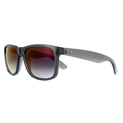 Ray-ban Sonnenbrille Justin 4165 606U0 Transparent Grau Gradient Mirror Rot 55mm