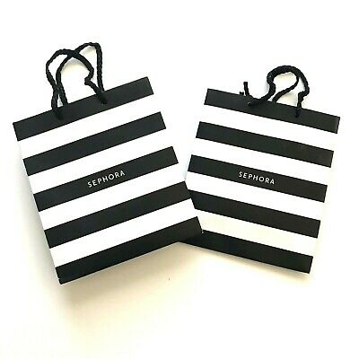 Black And White Gift Bags (Sephora Small Gift Bags, Black White Stripe LOT of)